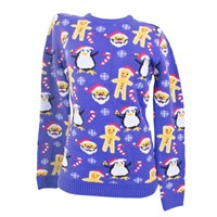 3D Xmas Santa Gingerbread Jumper - Ladies