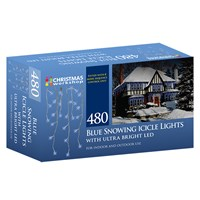 480 LED Snowing Icicle Lights - Cool White