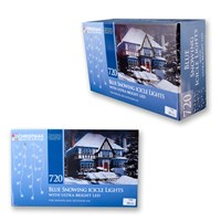 720LED Snowing Icicle Lights - Blue