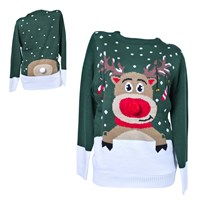 3D Reindeer Christmas Jumper-Mens (88282)