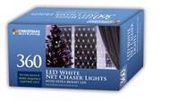 360 LED Net Chaser Light - White