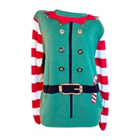 3D Mens Elf Xmas Jumper