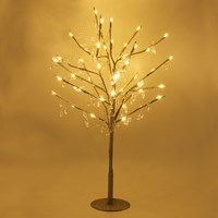 70cm 48LED Glitter Tree W/ Crystal Droplets-W.W