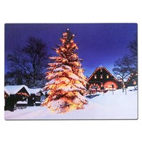 60x40cm Christmas Tree LED Canvas