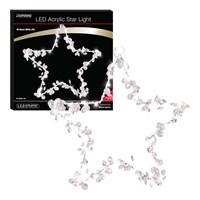 40 LED Acrylic Star Light - W.White (Batt Op)