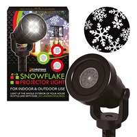 Indoor/Outdoor 4LED Snowflake Projector Light