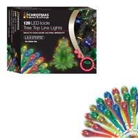 120 LED Icicle Tree Top Lights - Multi Colour