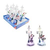 Colour LED Santa/Snowman - 2 Assorted