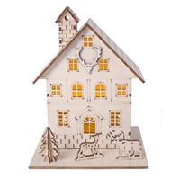2 LED Light Up Wooden House