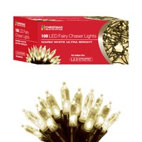 100 LED Fairy Chaser Lights - W.White