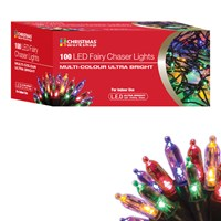 100 LED Fairy Chaser Lights - Multi Coloured