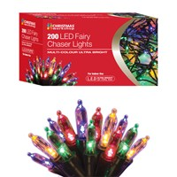 200 LED Fairy Chaser Lights - Multi Coloured