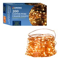 **SEE 70559** 200 LED Copper Wire Chaser Lights WW