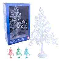 LED Tree W/Snow - Multi Coloured