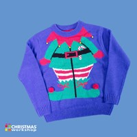 3D Kid's Elf Xmas Jumper-Boy