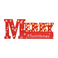 LED Wooden Merry Christmas Sign