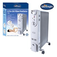 Silentnight 9-Fin 2Kw Oil Filled Radiator