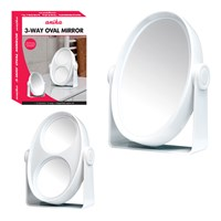 3-Way Oval Mirror