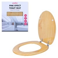Pine Effect Toilet Seat