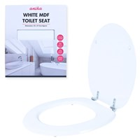 White MDF Toilet Seat