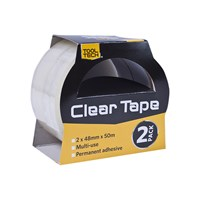 2 Rolls Clear Adhesive Tape