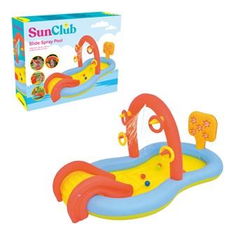 Sun Club 2.2M Slide Play Pool with Water Spray