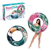 Sun Club 100cm Inflatable Tropical Swim Rings 2pk