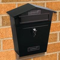 Black Post/letter/mail Box Large