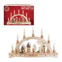 LED Wooden Christmas Scene
