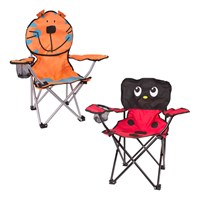 Kids Camping Chair - Assorted Ladybird or Tiger