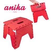 Folding Step Stool Red