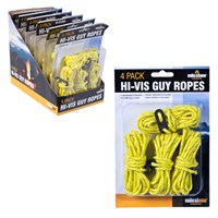 Pack of 4 Hi-Vis Guy Ropes
