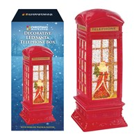 Santa Sparkling LED Telephone Box-Battery Operated