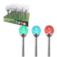 Solar Stainless Steel Globe Light - 10cm