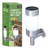 S/S LED Solar Wall Light