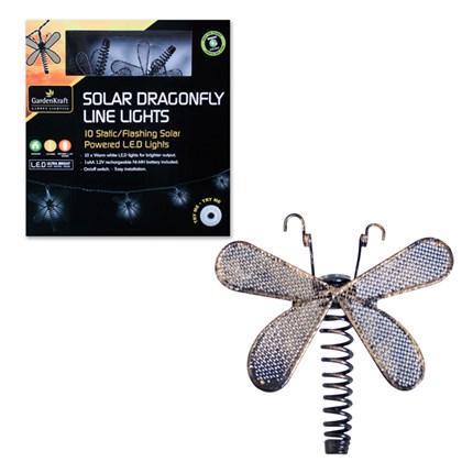 10 Solar Dragonfly String Light