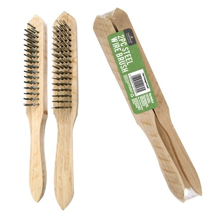 2pc Wooden Steel Wire Brush