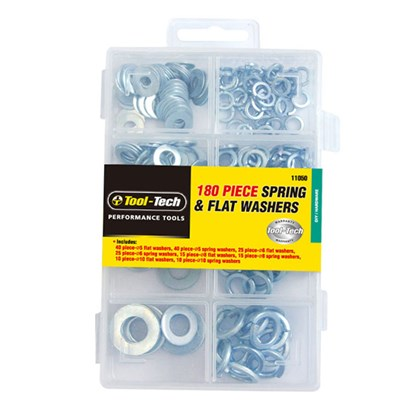180pc Flat & Spring Washers