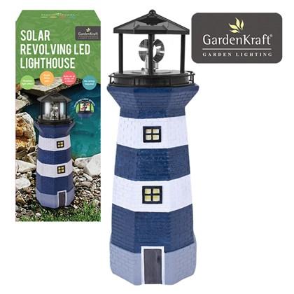 Solar Revolving LED Lighthouse - 40cm