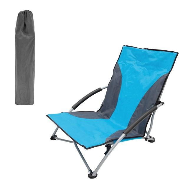 Low Slung Folding Beach/Camping  Chair - Blue