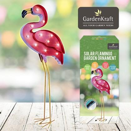 Solar Flamingo Decoration