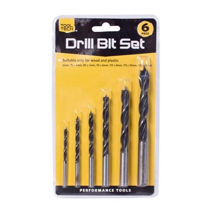 6pc Drill Bit Set