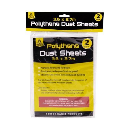 2pcs Polythene Dust Sheets