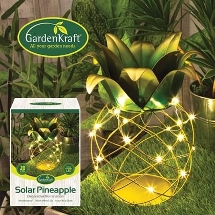 Solar Pineapple Table Lamp
