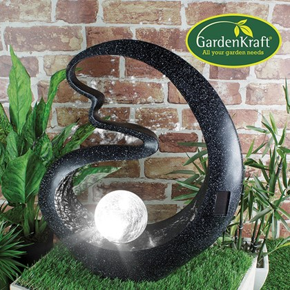 Medusa Crackle Ball Solar Light Black