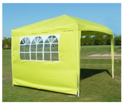 3x3m Lime Pop Up Gazebo 4 sides