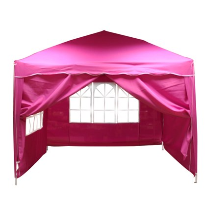 3x3m Pink Pop Up Gazebo 4 Sides