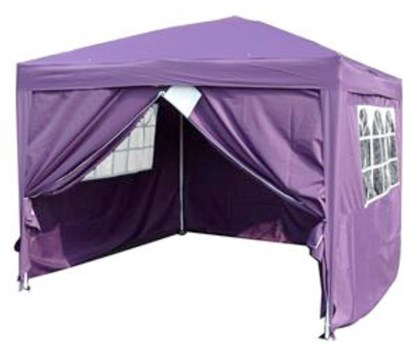 3x3m Purple Pop up Gazebo 4 Sides