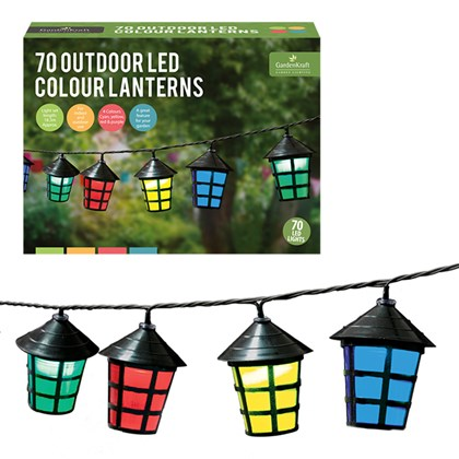 70 LED Colour Lanterns