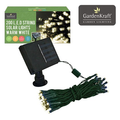 200 LED Solar Light - Warm White